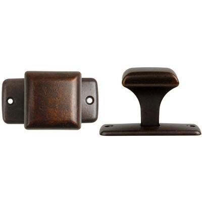 Bosetti-Marella Square Knob with Back Plate in Oil Rubbed Bronze