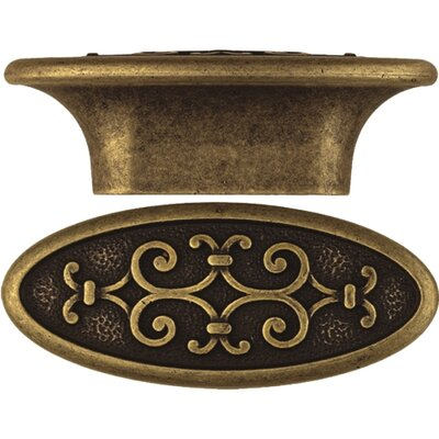 "Bosetti-Marella Artistic Series 2.9"" Oval Knob in Dark Antique Brass"