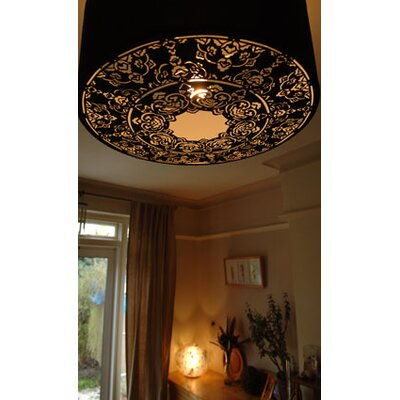 Tay Lighting Malina Cotton Pendant with Black Shade