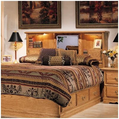 Country Heirloom Storage Panel Bed