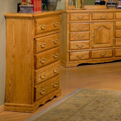 Country Heirloom 5 Drawer Chest