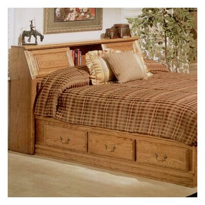 Bebe Furniture Country Heirloom Pier Bookcase Headboard Only in Warm Rich