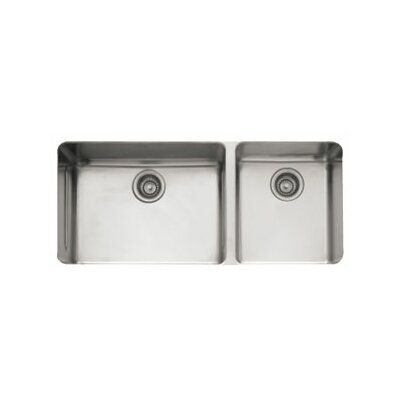 "Franke Kubus 38"" Stainless Steel Double Bowl Kitchen Sink"