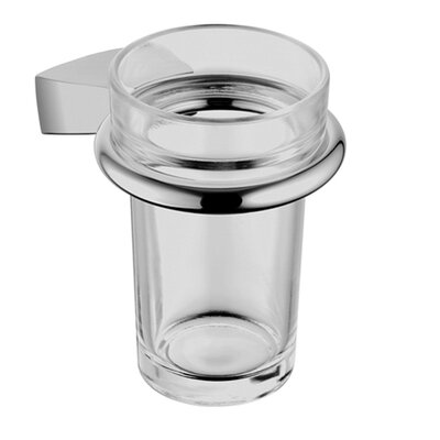 Hansa Tumbler Holder with Clear Glass in Chrome