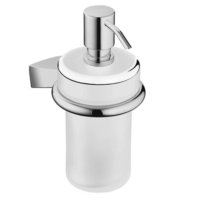 Hansa Liquid Soap Dispenser with Clear Glass in Chrome
