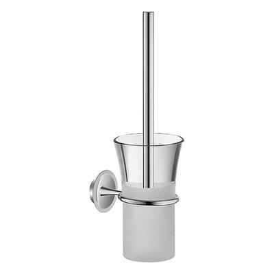 Hansa HansaMurano Toilet Brush Set with Crystal / Matte Glass in Chrome
