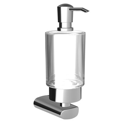 Hansa HansaRonda Liquid Soap Dispenser with Glass in Chrome