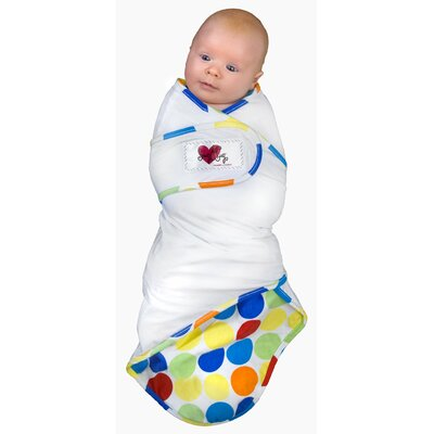 Go Mama Go Snug and Tug Swaddle Blanket, Rainbow Love - Small