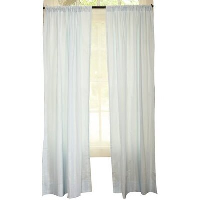 Go Mama Go Blue with Cream Stripes Curtains - 2 Panels