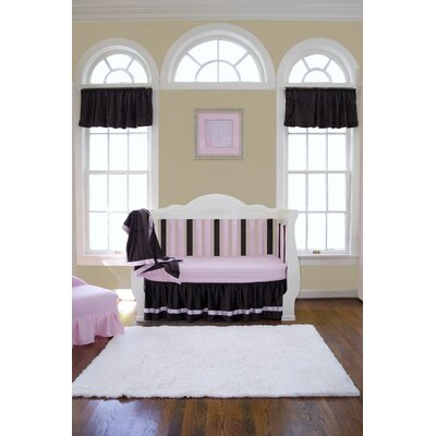Go Mama Go Chocolate Minky Toddler Blanket with Pink Satin Trim