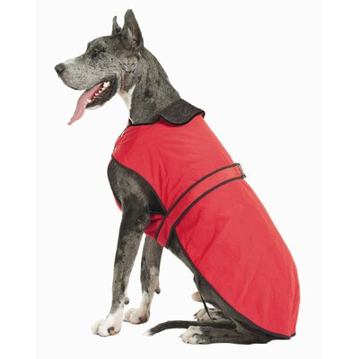 Muttluks Belted Dog Coat in Red