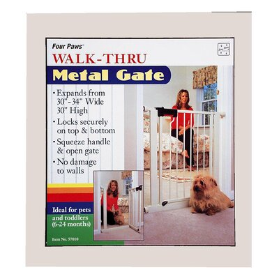 Four Paws Metal Walk Thru Pet Gate