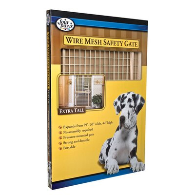 Four Paws Coated Wire Wood Gate