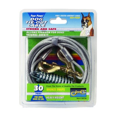 Four Paws Dog Heavy Tie Out Cable in Silver