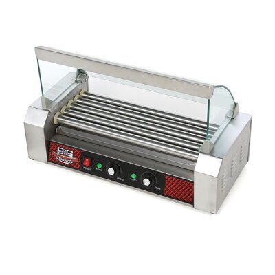 Big Dawg Commercial 5 Roller Hot Dog Machine with Cover