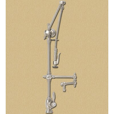 "Waterstone Towson Gantry 18"" Two Handle Single Hole Articulated Bar Faucet with Pre-Rinse Spray"