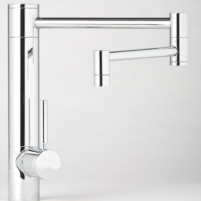 "Waterstone Hunley 18"" One Handle Single Hole Pot Filler Kitchen Faucet with Built-In Diverter and Lever Handle"