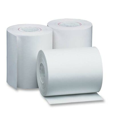 "Sparco Products Thermal Paper Roll, 2-1/4""x165', 3/PK, White"