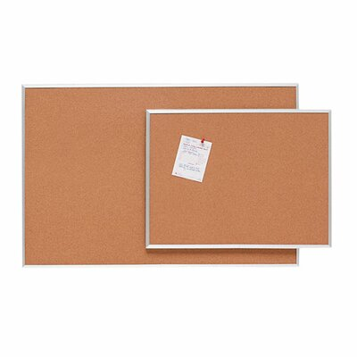 Sparco Products Cork Board, Aluminum Frame, Various Sizes