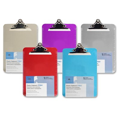 "Sparco Products Transparent Plastic Clipboard, 9""x12-1/2"""