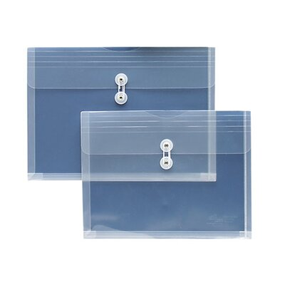 Sparco Products String A Long Poly Hide Envelope, Side Open, 1&quot; Expansion, Legal, Clear