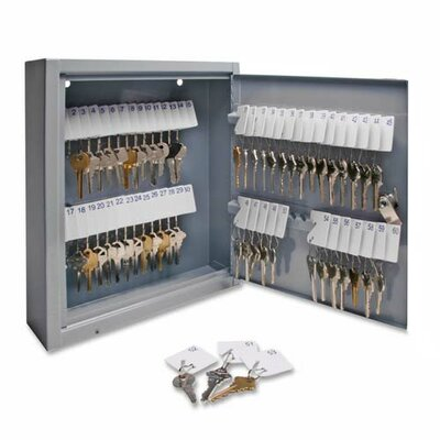 Sparco Products Secure Key Cabinet, Gray, Various Sizes