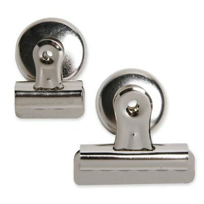 "Sparco Products Bulldog Clip, Magnetic Back, Size 1, 1-1/4""W, 3/8"" Cap, SR"