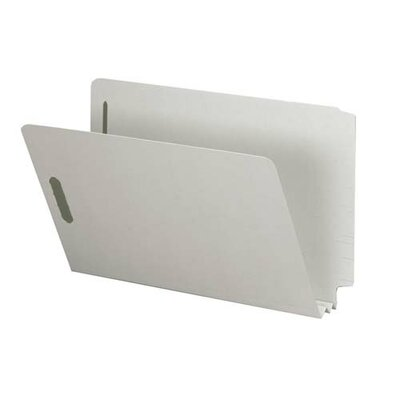 "Sparco Products End Tab Pressboard Fastener Folder, 2"" Exp, Legal, 25/BX, Gray"
