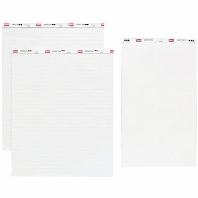 "Sparco Products Standard Easel Pad, Plain, 27""x34"", 40 Sheets, 4/CT, White"