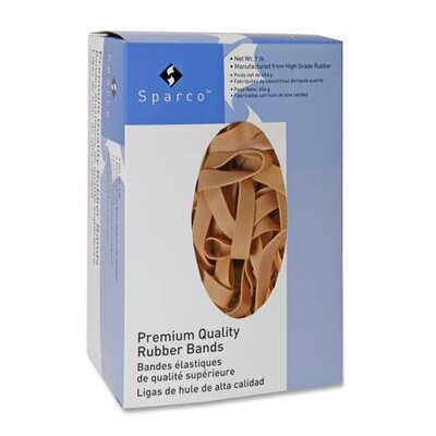 "Sparco Products Rubber Bands, 1 lb., Size 107, 7""x5/8"""