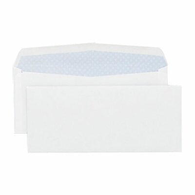 "Sparco Products Box Envelopes, Security Tint, No. 10, 4-1/8""x9-1/2"", 40/BX, White"