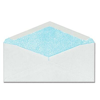 "Sparco Products Commercial Envelopes, Security Tint, Window, No. 10, 4-1/8""x9-1/2"", White"