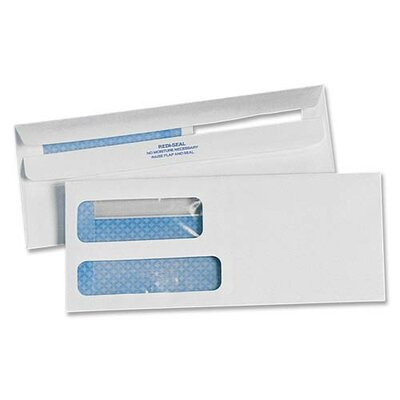Sparco Products No. 9 Double Window Invoice Envelopes, White