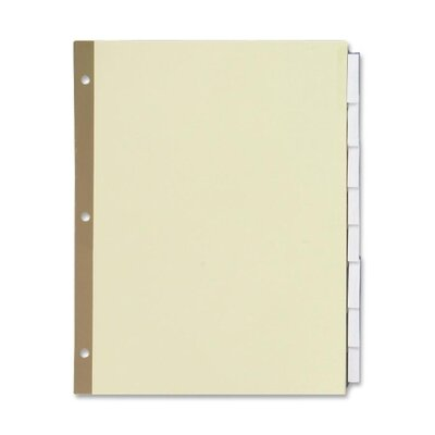 "Sparco Products Ring Binder Indexes, 8-Tabs, 11""x8-1/2"","