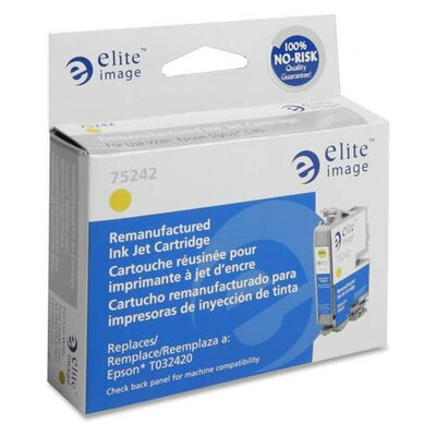 Elite Image Inkjet Cartridge, For Epson C80, 420 Page Yield, Yellow
