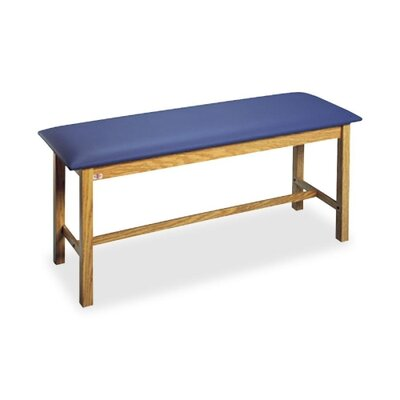 "Hausmann Industries Exam Table, 2"" Thick, 350 lb., Capacity, 72""x27""31"", Slate Blue"