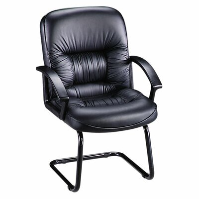 Lorell Leather Guest Chair with Sled Base