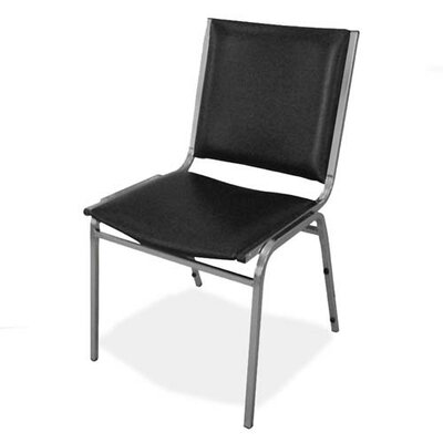 Lorell Stacking Chairs with Metal Leg