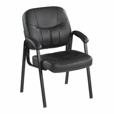 Lorell Leather Guest Chair with Arm
