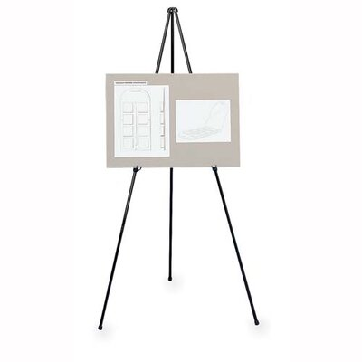 Lorell Heavy-Duty Adjustable Display Folding Easel, Black