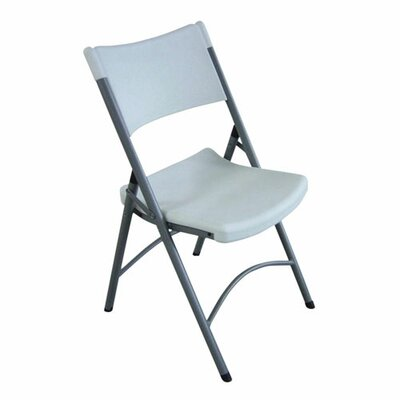 Lorell Folding Chair Platinum