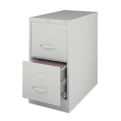 Lorell Lorell Deep 2-Drawer Vertical Files, Putty