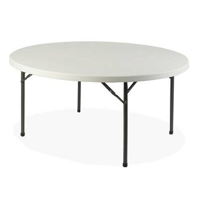 Lorell Round Banquet Table, Platinum/gray