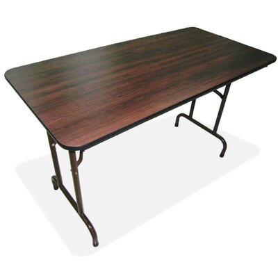 "Lorell 30"" x 60"" Laminate Economy Folding Tables, Mahogany"