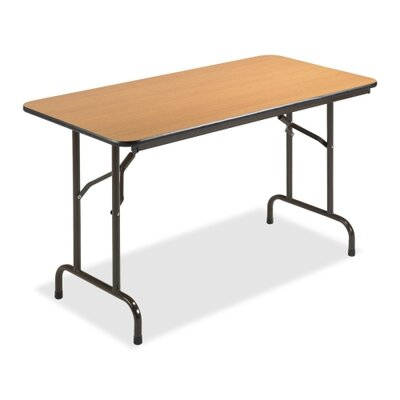 Lorell 24x48 Laminate Economy Folding Tables, Mahogany