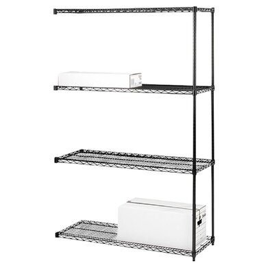 Industrial Adjustable Wire Shelving Add-On-Unit, 36