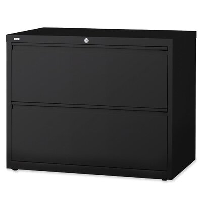 "Lorell Lorell 36"" 2-Drawer Lateral Files, Black"