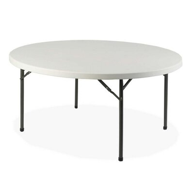 Lorell Lorell Round Banquet Table, Platinum/gray