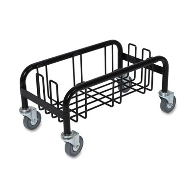 "Genuine Joe Wall Hugger Dolly, 23 Gallon, 10-1/2""x19-1/2""x10"", Black"