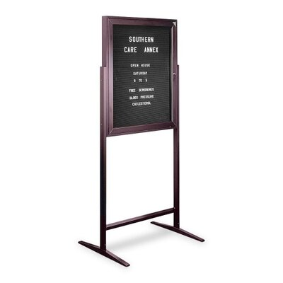 Genuine Joe Sentry Free Standing Message Center